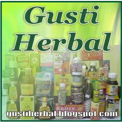 GUSTI HERBAL Logo kotak